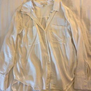 Anthropologie long sleeve button down shirt